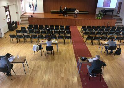 Natjecatelji su svirali samo pred peteročlanom komisijom (Barbara Rašić uz pratnju prof. Hrvoja Aušića)