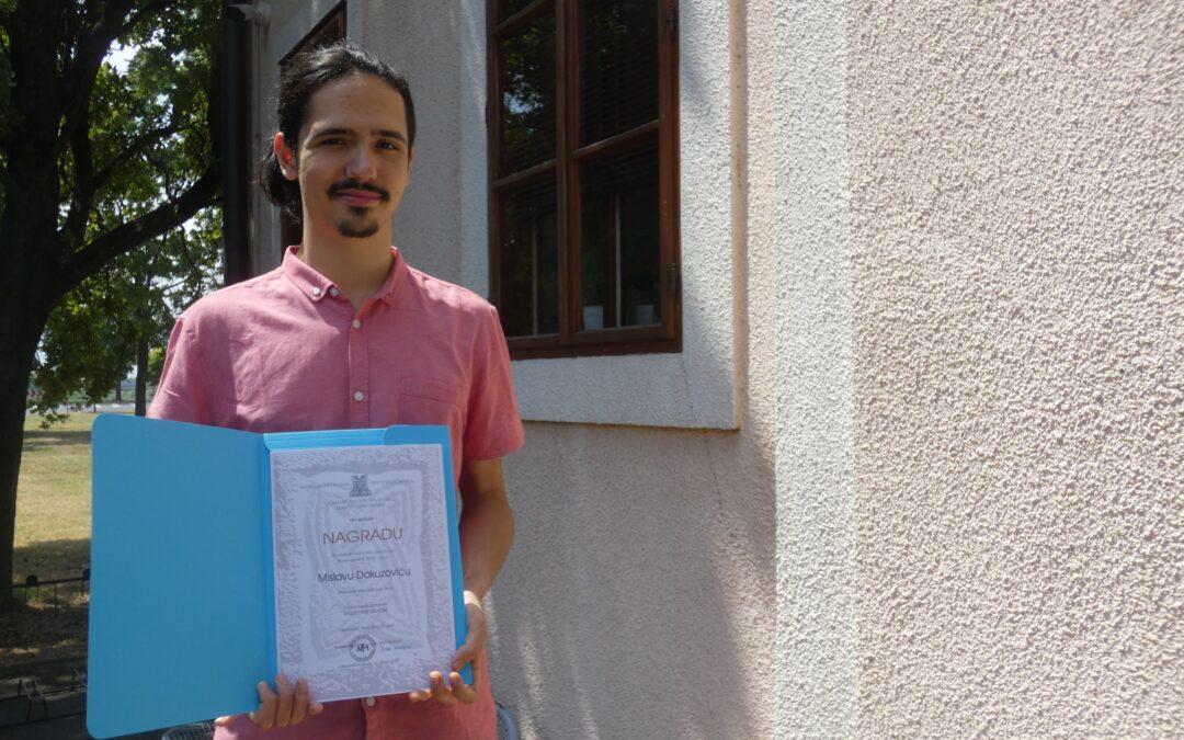 Mislav Dokuzović nagrađen za najuspješniji završni rad