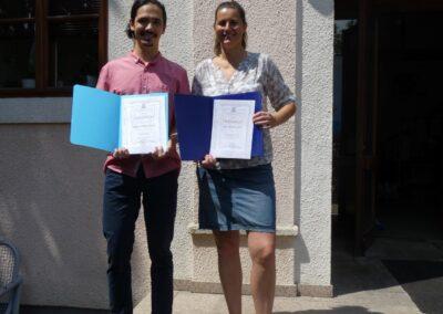 Mislav Dokuzović s mentoricom Irenom Šimičić
